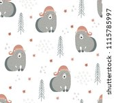 seamless pattern with bears in... | Shutterstock .eps vector #1115785997