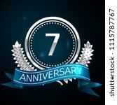 realistic seven years... | Shutterstock .eps vector #1115787767