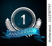 realistic one years anniversary ... | Shutterstock .eps vector #1115787797