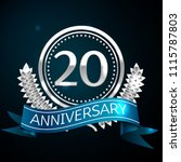 realistic twenty years... | Shutterstock .eps vector #1115787803