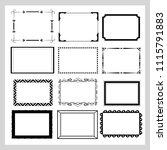 set of 12 elegant vector frames.... | Shutterstock .eps vector #1115791883