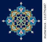 arabic floral ornament.... | Shutterstock .eps vector #1115792687