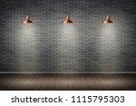 interior of black brick wall... | Shutterstock .eps vector #1115795303