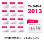 vector calendar 2013  all... | Shutterstock .eps vector #111579647