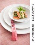 korean food  jeon and korean...   Shutterstock . vector #1115809943