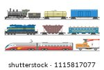 train vector railway transport... | Shutterstock .eps vector #1115817077