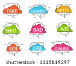trendy speech bubble colorful... | Shutterstock . vector #1115819297