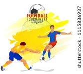football tournament league...   Shutterstock .eps vector #1115836937