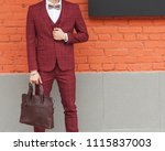 part of the body. fashion man.... | Shutterstock . vector #1115837003