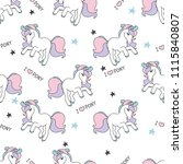 seamless pattern with cute... | Shutterstock .eps vector #1115840807