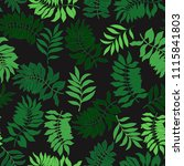 tropical background with palm... | Shutterstock .eps vector #1115841803