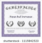 violet certificate template or... | Shutterstock .eps vector #1115842523