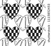 decorative hearts. black and... | Shutterstock .eps vector #1115852453