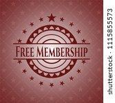 free membership retro style red ... | Shutterstock .eps vector #1115855573