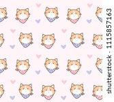 seamless pattern of cute... | Shutterstock .eps vector #1115857163