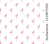 pattern with flamingo bird on... | Shutterstock . vector #1115871533