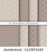 seamless pattern set in arabic... | Shutterstock .eps vector #1115876183