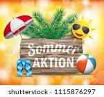 german text sommeraktion ... | Shutterstock .eps vector #1115876297