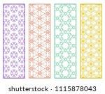 decorative geometric line... | Shutterstock .eps vector #1115878043