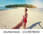 follow me. vacation concept.... | Shutterstock . vector #1115878643