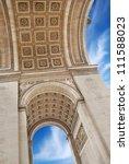 the triumphal arch  arc de...   Shutterstock . vector #111588023
