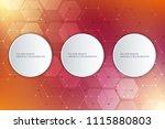 hexagons pattern for medical ... | Shutterstock .eps vector #1115880803