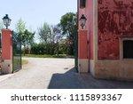open a gate in an italian... | Shutterstock . vector #1115893367
