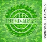 free membership green emblem.... | Shutterstock .eps vector #1115898077
