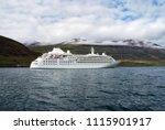 cruising for pleasure. cruise... | Shutterstock . vector #1115901917