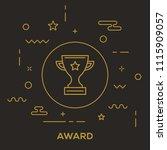 award icon concept | Shutterstock .eps vector #1115909057