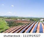 aerial power station | Shutterstock . vector #1115919227