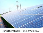 solar panels eco friendly... | Shutterstock . vector #1115921267