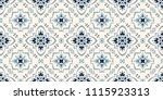 talavera pattern.  azulejos... | Shutterstock .eps vector #1115923313