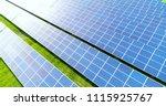 solar panels in aerial view | Shutterstock . vector #1115925767