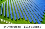 solar panels in aerial view | Shutterstock . vector #1115925863