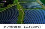 solar panels in aerial view | Shutterstock . vector #1115925917