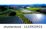 solar panels in aerial view | Shutterstock . vector #1115925923