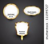 vector golden labels   Shutterstock .eps vector #111595727