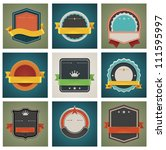 vector tags and badges with... | Shutterstock .eps vector #111595997