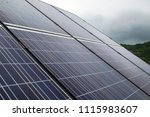photovoltaic panels on a cloudy ... | Shutterstock . vector #1115983607