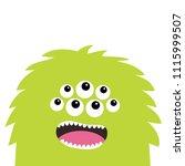 monster scary screaming face... | Shutterstock .eps vector #1115999507