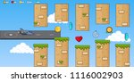 interface 8 bit game  pixel art ... | Shutterstock .eps vector #1116002903