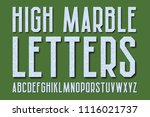 high marble letters with... | Shutterstock .eps vector #1116021737
