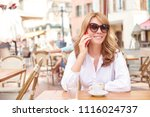 portrait of happy middle aged... | Shutterstock . vector #1116024737