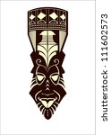 african mask | Shutterstock .eps vector #111602573