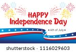 happy independence day  ... | Shutterstock .eps vector #1116029603