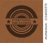 everything included wooden... | Shutterstock .eps vector #1116032573