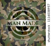 man made on camouflage texture | Shutterstock .eps vector #1116038957