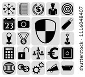 set of 22 business high quality ... | Shutterstock .eps vector #1116048407