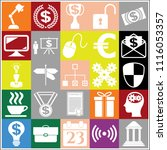 set of 25 business high quality ... | Shutterstock .eps vector #1116053357
